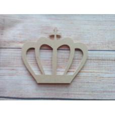 4mm MDF Fancy Crown with cross 100mm